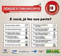 Combater a Dengue é um dever de todos!
